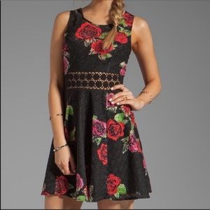 Free People Floral Rose Sleeveless Dress